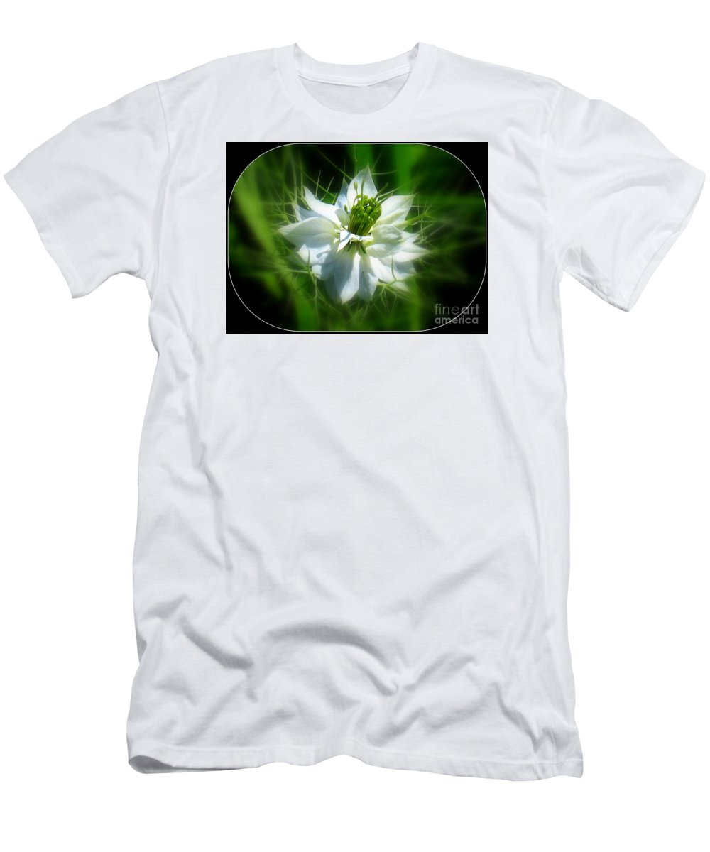 Love In A Mist Men's T-Shirt (Athletic Fit) featuring the photograph Love In A Mist by Patti Whitten