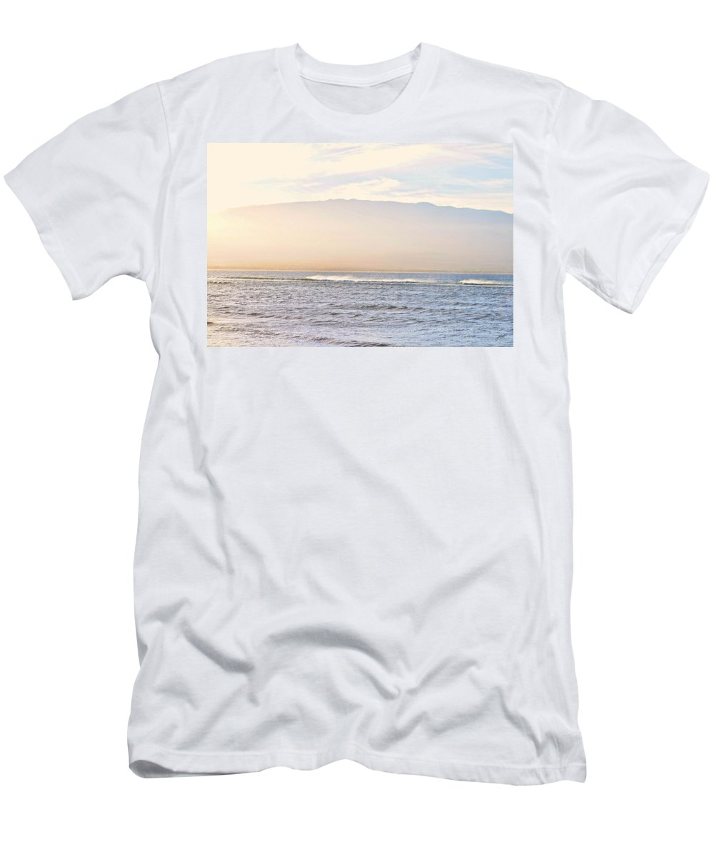 Nature Men's T-Shirt (Athletic Fit) featuring the photograph Maalaea Morning Surf by Paulette B Wright