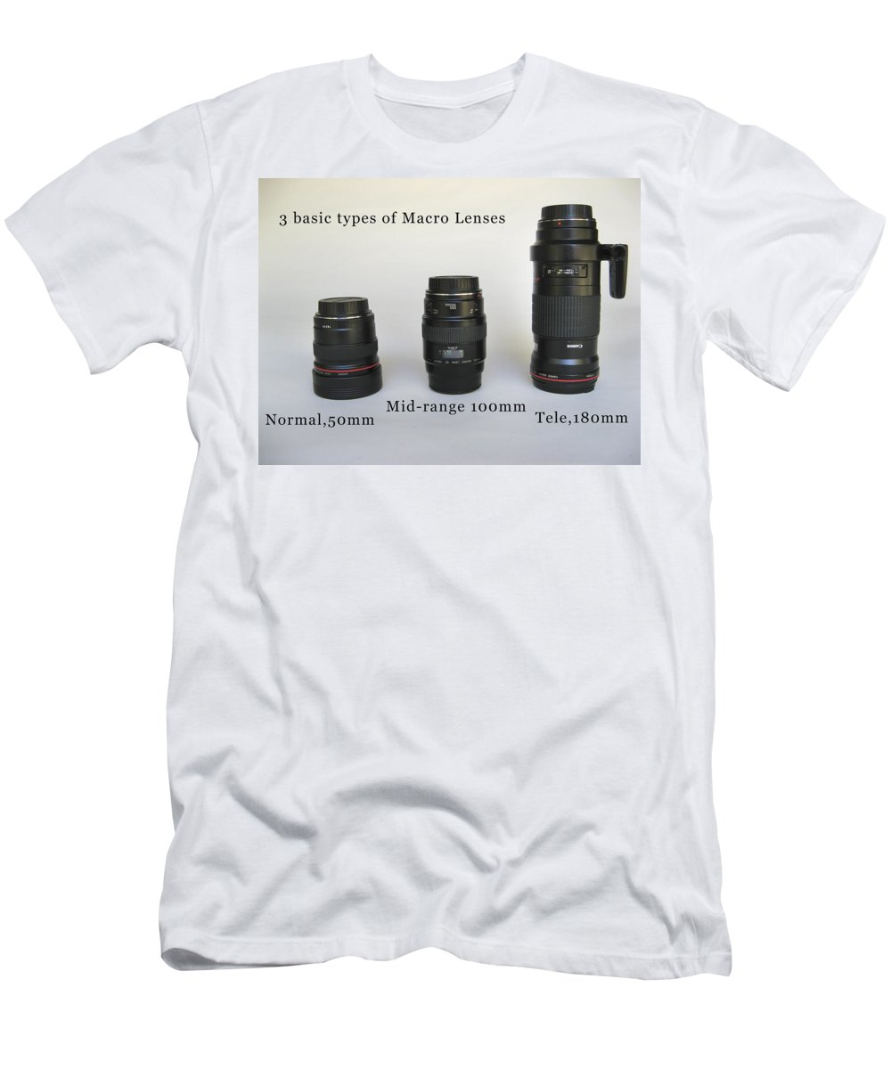 Men's T-Shirt (Athletic Fit) featuring the photograph Macro Test by Rich Franco