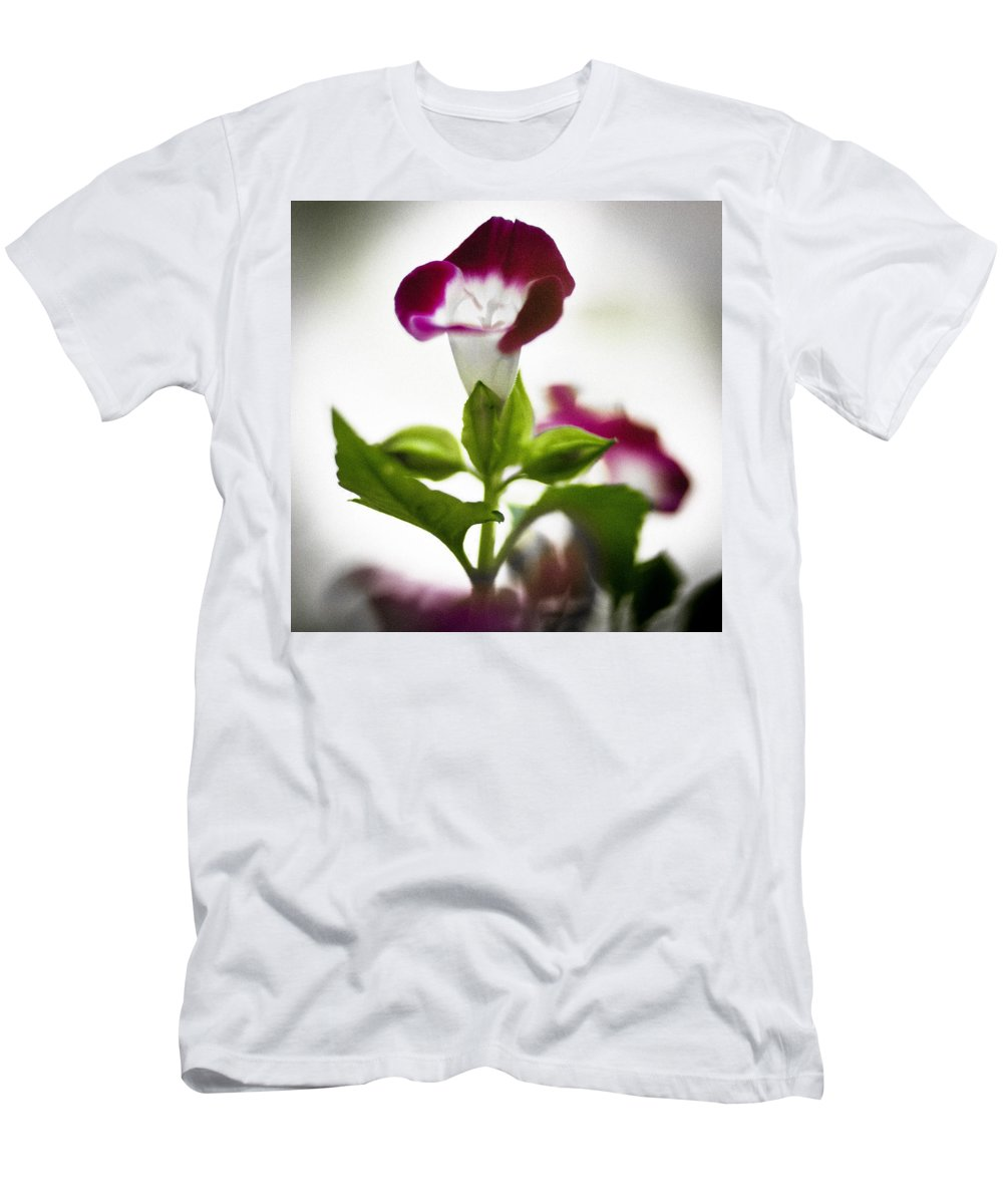Flower Men's T-Shirt (Athletic Fit) featuring the photograph Magenta Flower by Bradley R Youngberg