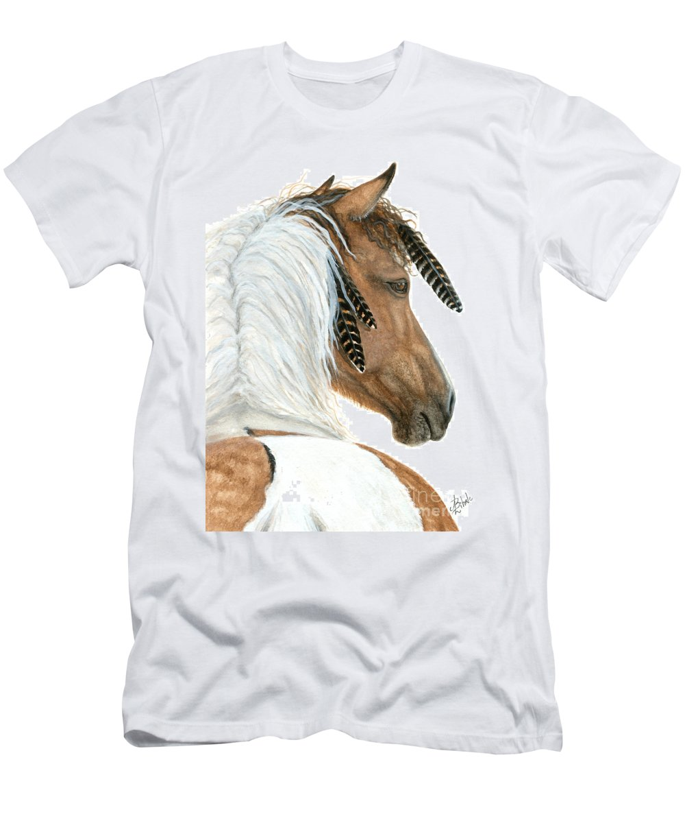 Horse T-Shirt featuring the painting Majestic Curly Horse by AmyLyn Bihrle