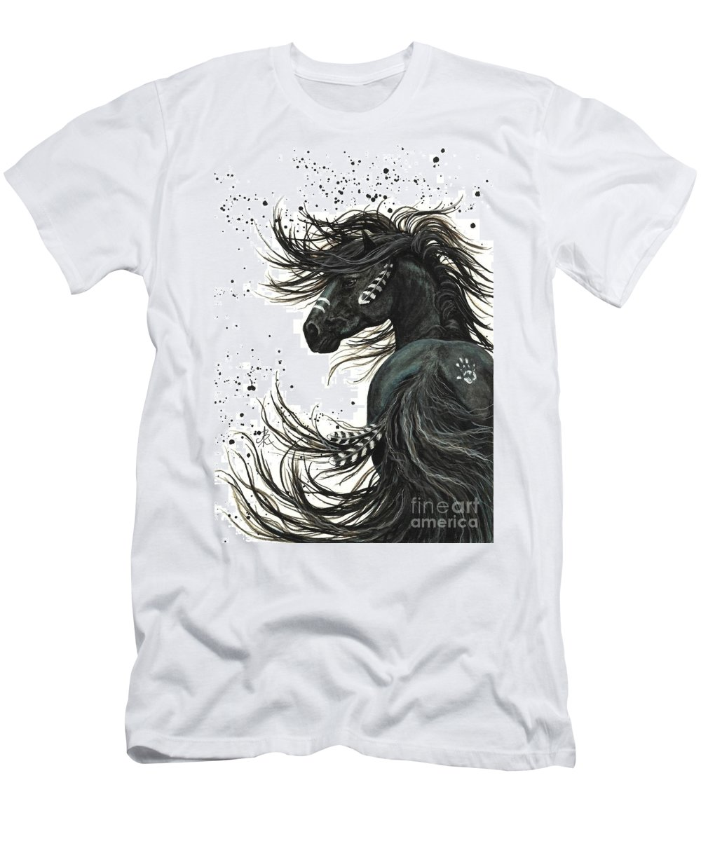 Mm65 T-Shirt featuring the painting Majestic Spirit Horse I by AmyLyn Bihrle