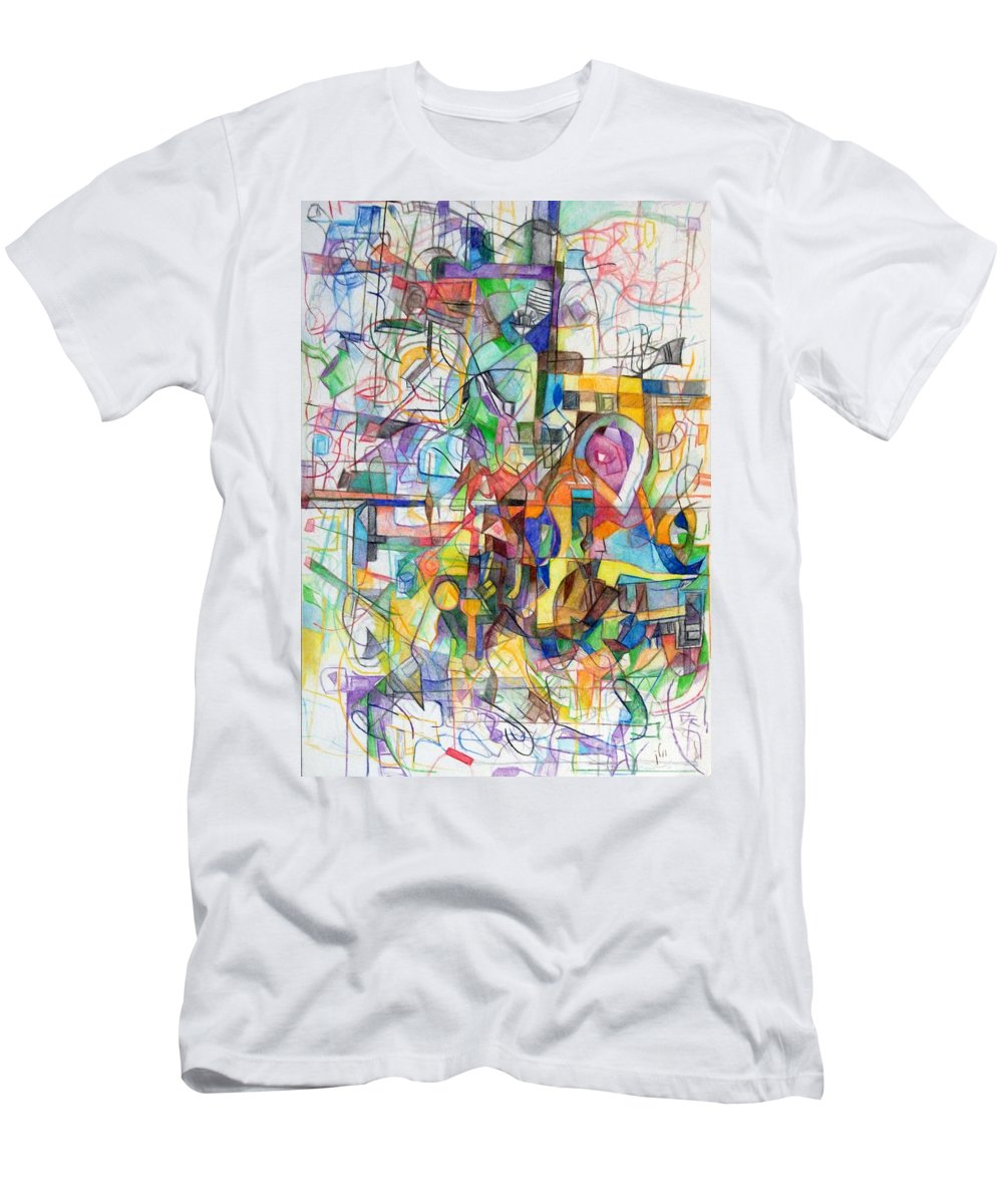 Torah Men's T-Shirt (Athletic Fit) featuring the drawing Make A Fence For The Torah 1 by David Baruch Wolk