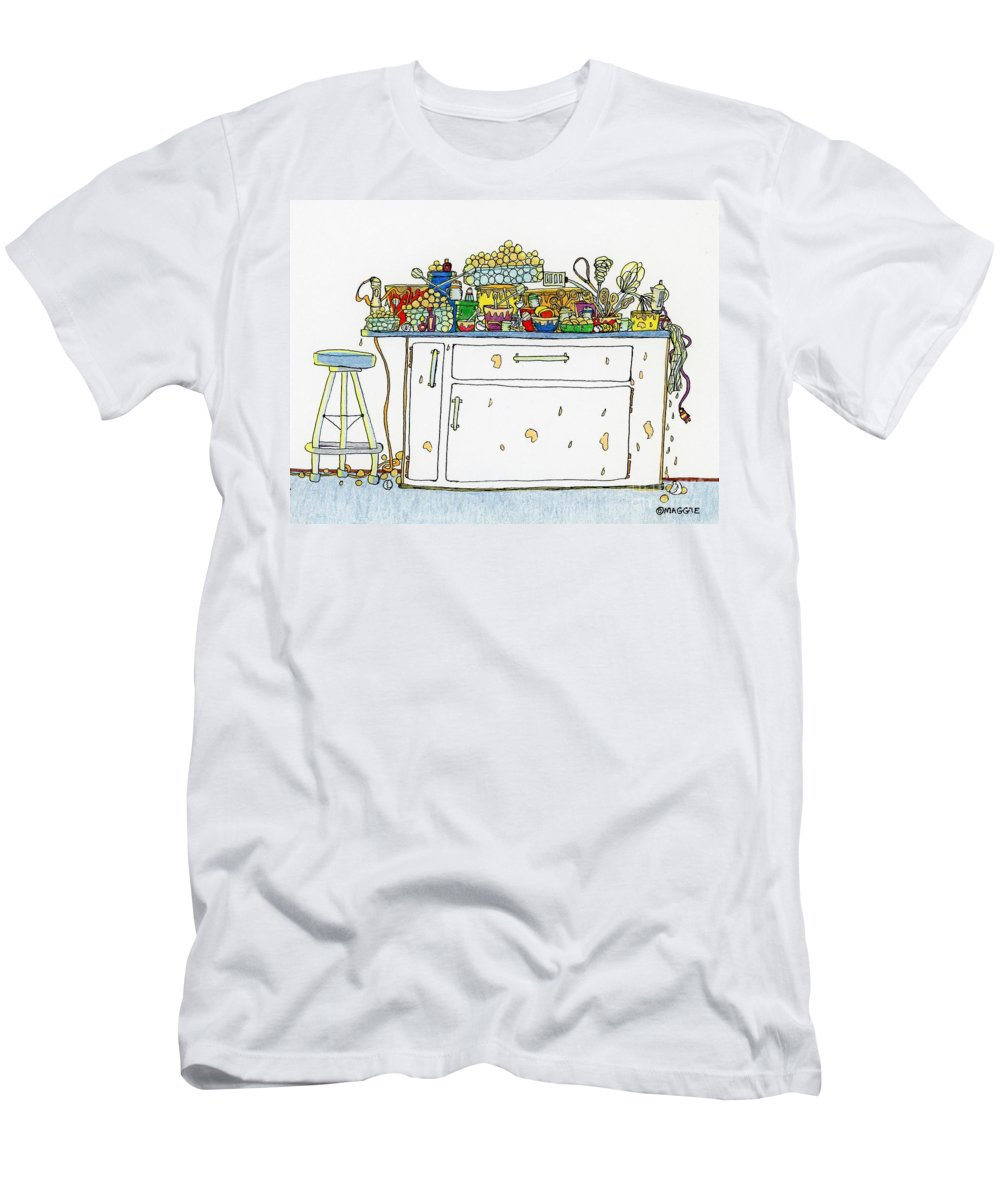 Kitchens Men's T-Shirt (Athletic Fit) featuring the painting Making Cake Balls by Maggie Pringle