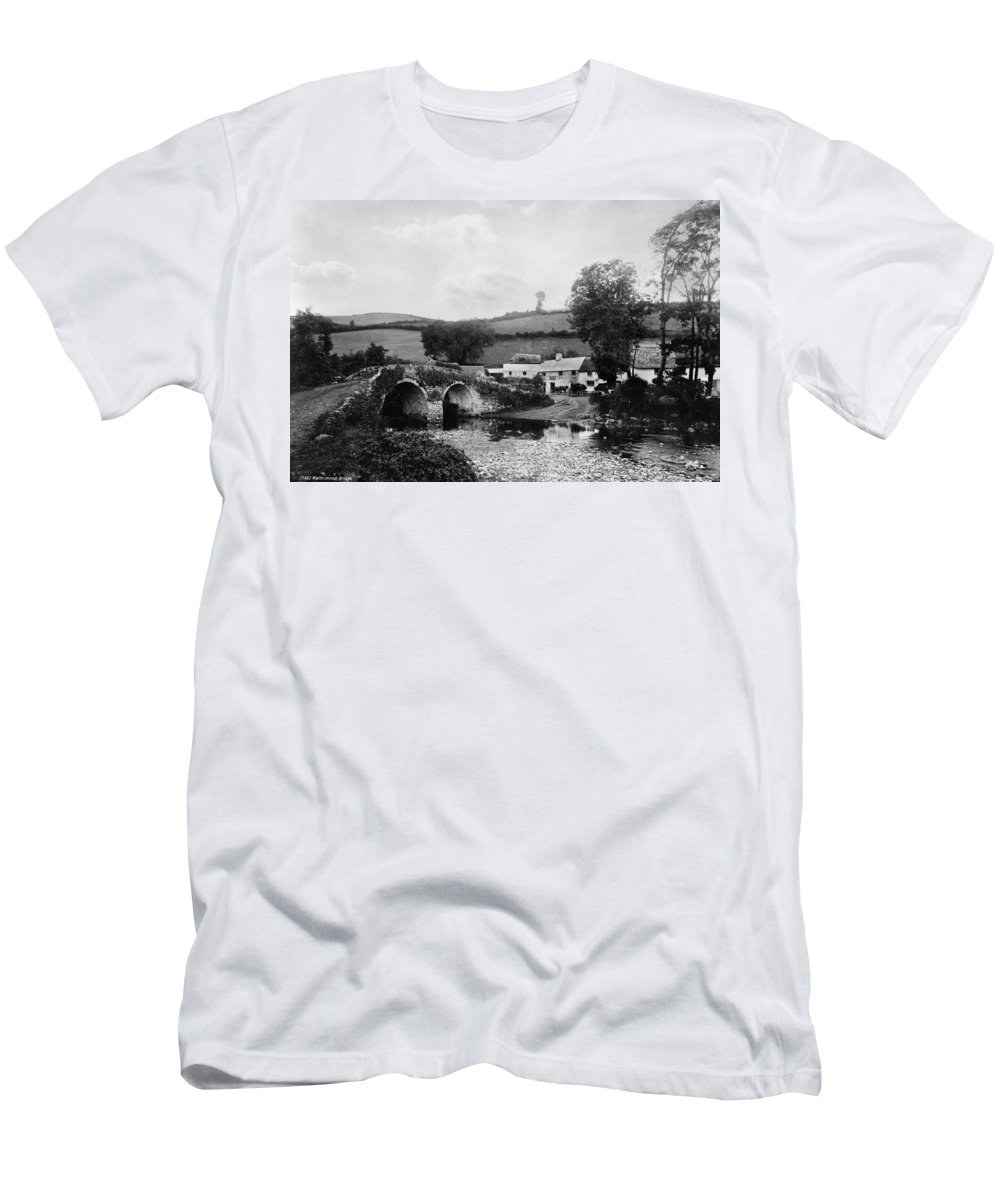 1890s Men's T-Shirt (Athletic Fit) featuring the photograph Malmsmead Bridge, C1900 by Granger