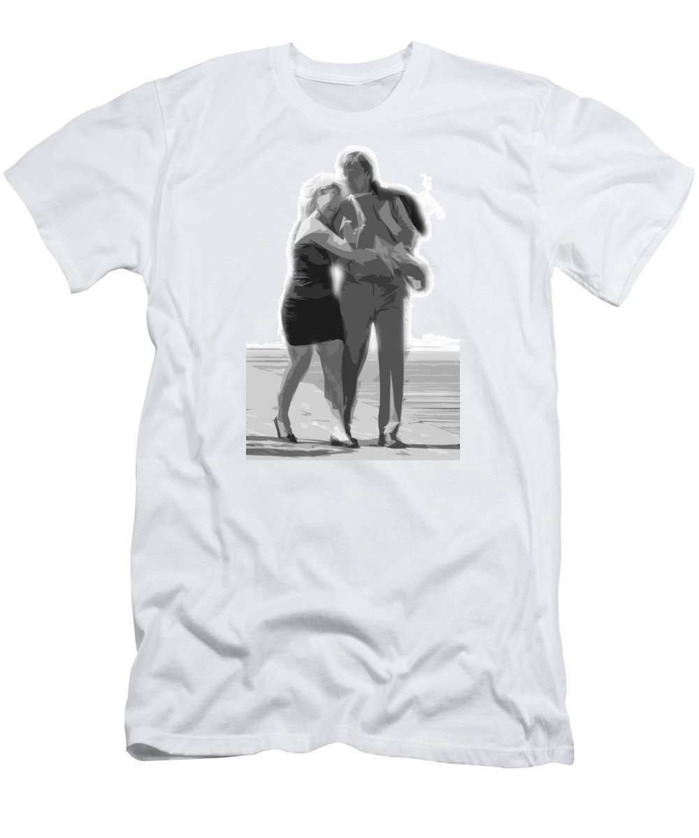 Love Men's T-Shirt (Athletic Fit) featuring the photograph Man And Woman by Tom Gari Gallery-Three-Photography