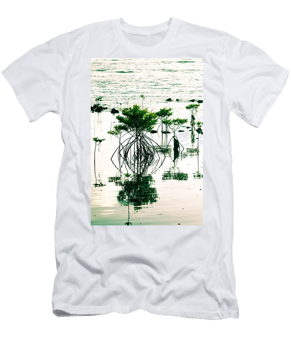 Mangrove Men's T-Shirt (Athletic Fit) featuring the photograph Mangroves by Alexey Stiop