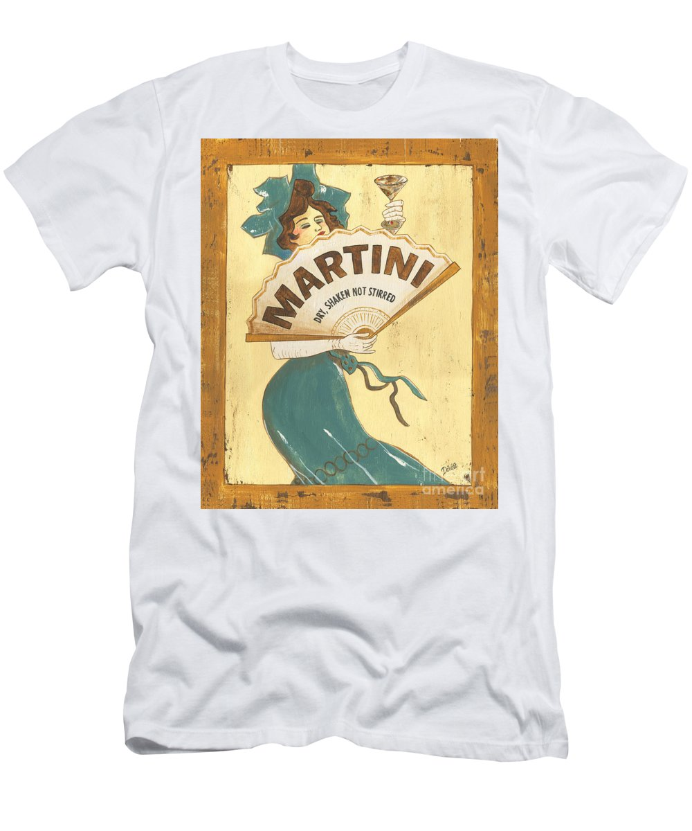Martini Men's T-Shirt (Athletic Fit) featuring the painting Martini Dry by Debbie DeWitt