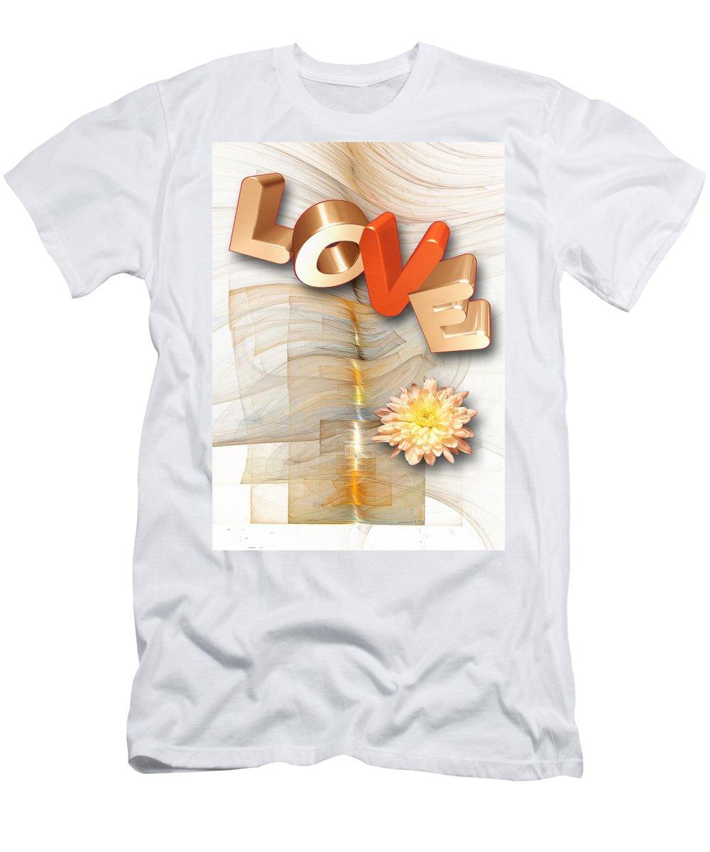 Love Men's T-Shirt (Athletic Fit) featuring the digital art Marucii 277-07-13 Love by Marek Lutek