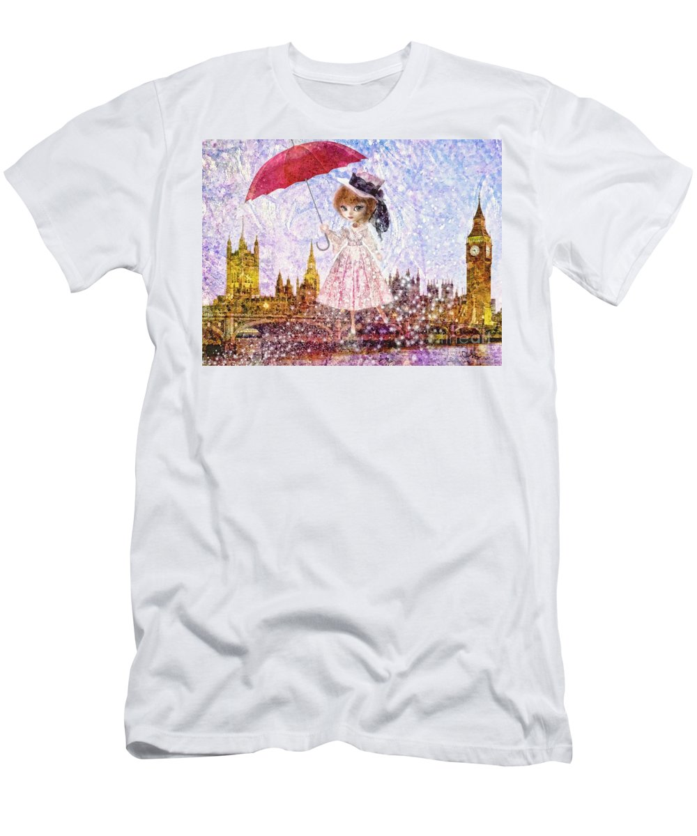 Mary Poppins Men's T-Shirt (Athletic Fit) featuring the painting Mary Poppins by Mo T