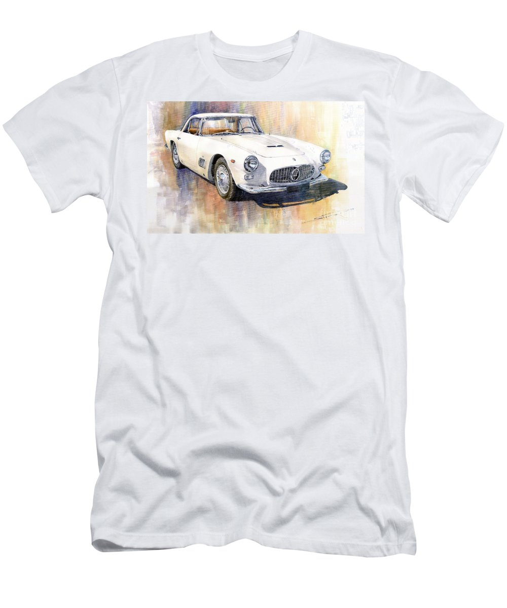 Automotive T-Shirt featuring the painting Maserati 3500GT Coupe by Yuriy Shevchuk