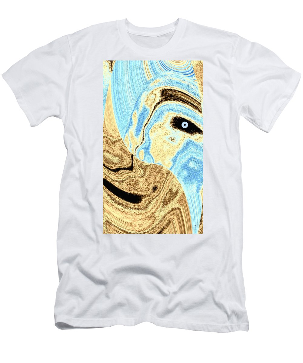 Masked- Man Abstract Men's T-Shirt (Athletic Fit) featuring the digital art Masked- Man Abstract by Will Borden
