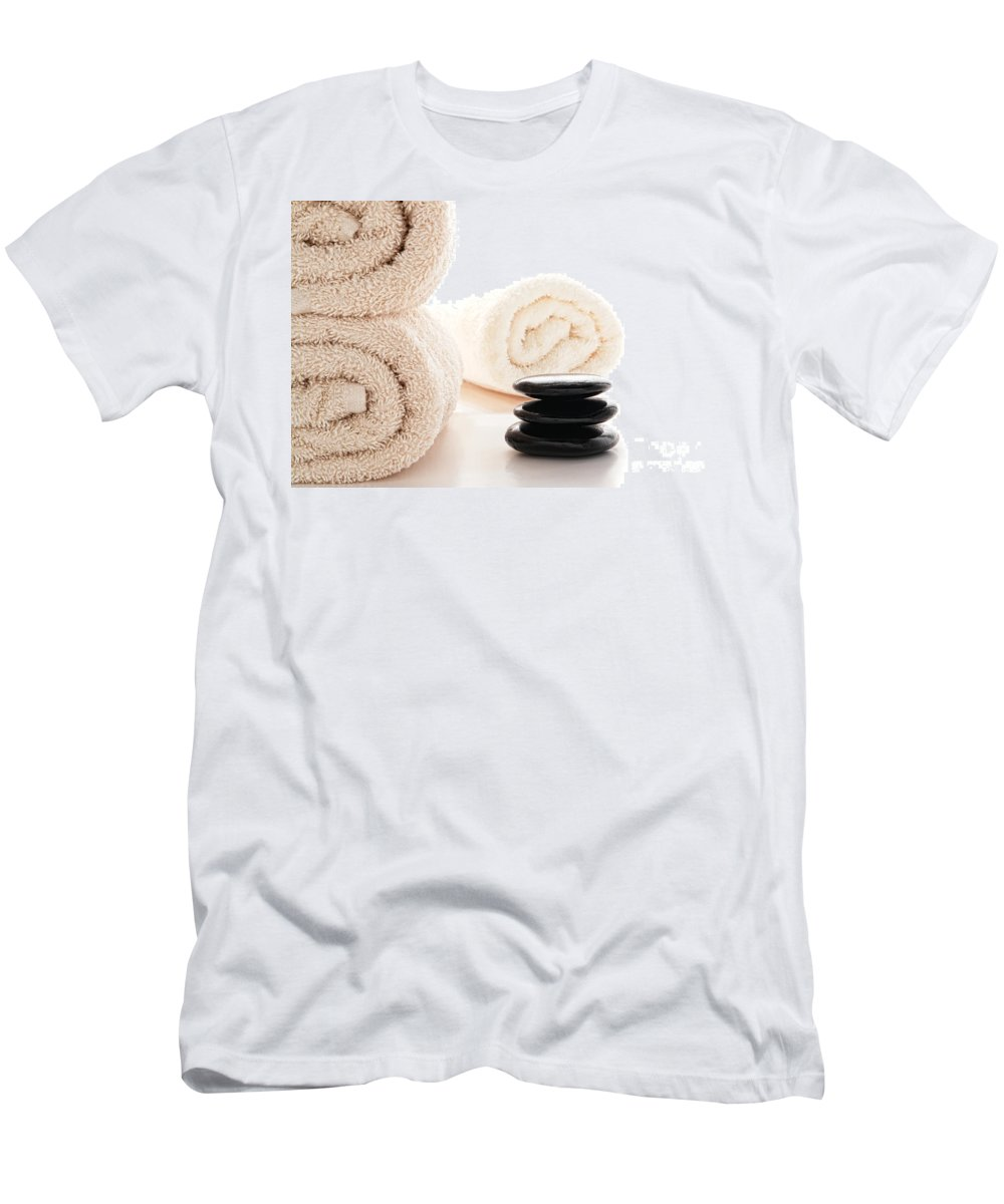 Hot Men's T-Shirt (Athletic Fit) featuring the photograph Massage Ready by Olivier Le Queinec