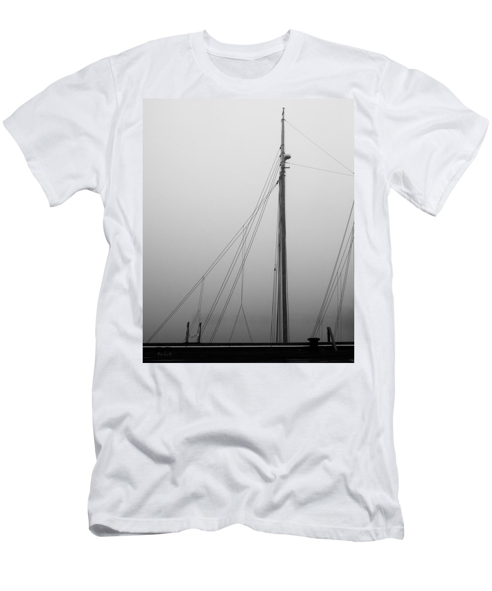 Abstract Men's T-Shirt (Athletic Fit) featuring the photograph Mast And Rigging by Bob Orsillo