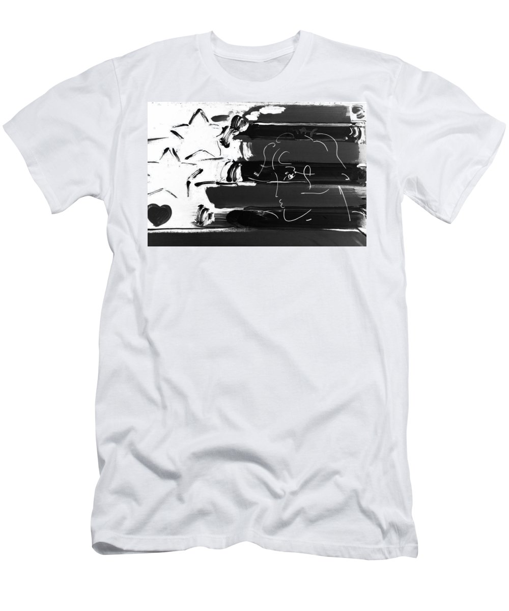 Modern Men's T-Shirt (Athletic Fit) featuring the photograph Max Stars And Stripes In Negative by Rob Hans