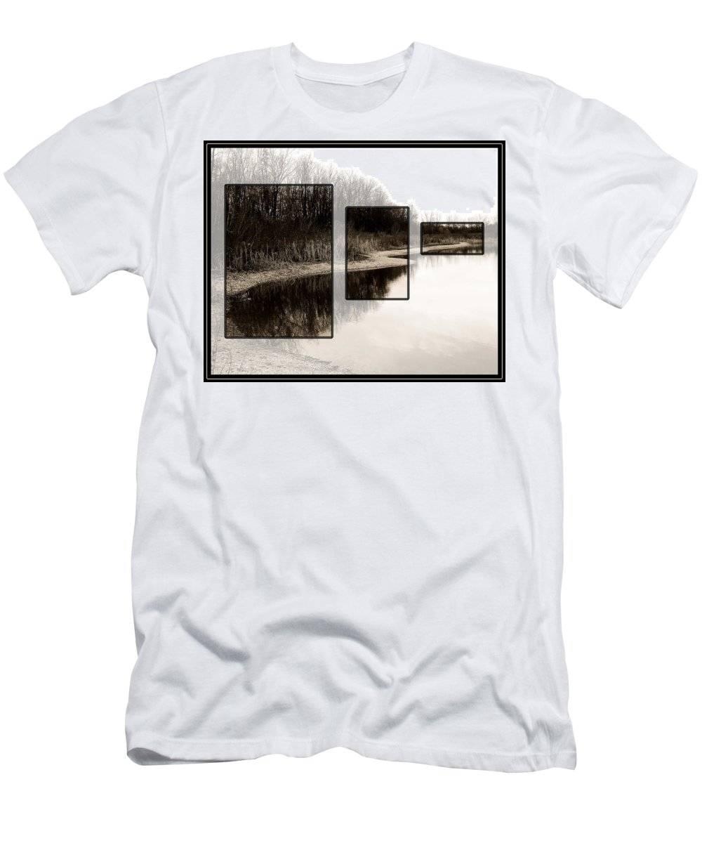 Lake Men's T-Shirt (Athletic Fit) featuring the photograph Mcnamara Landing by Gene Tatroe