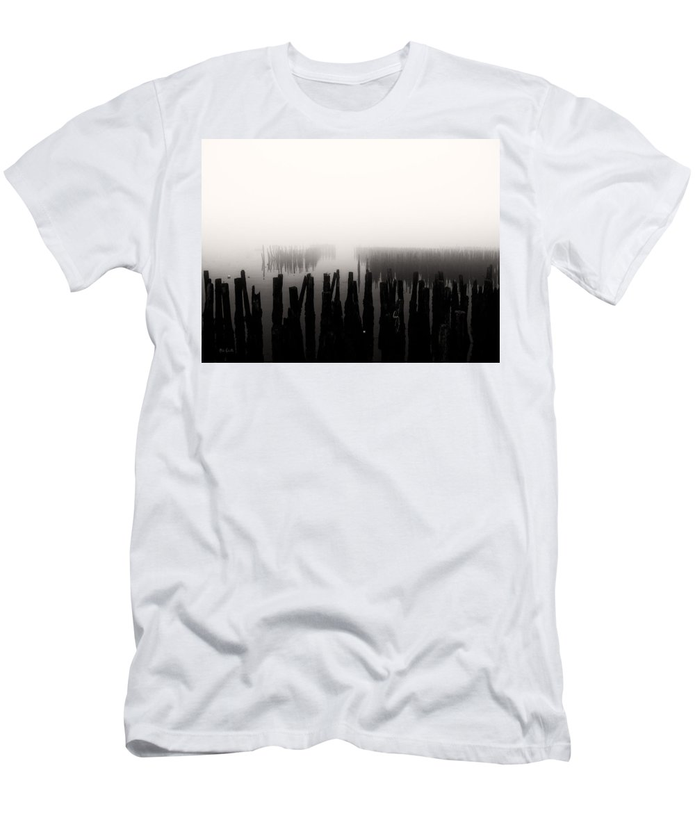 Seascape Men's T-Shirt (Athletic Fit) featuring the photograph Memories And Fog by Bob Orsillo