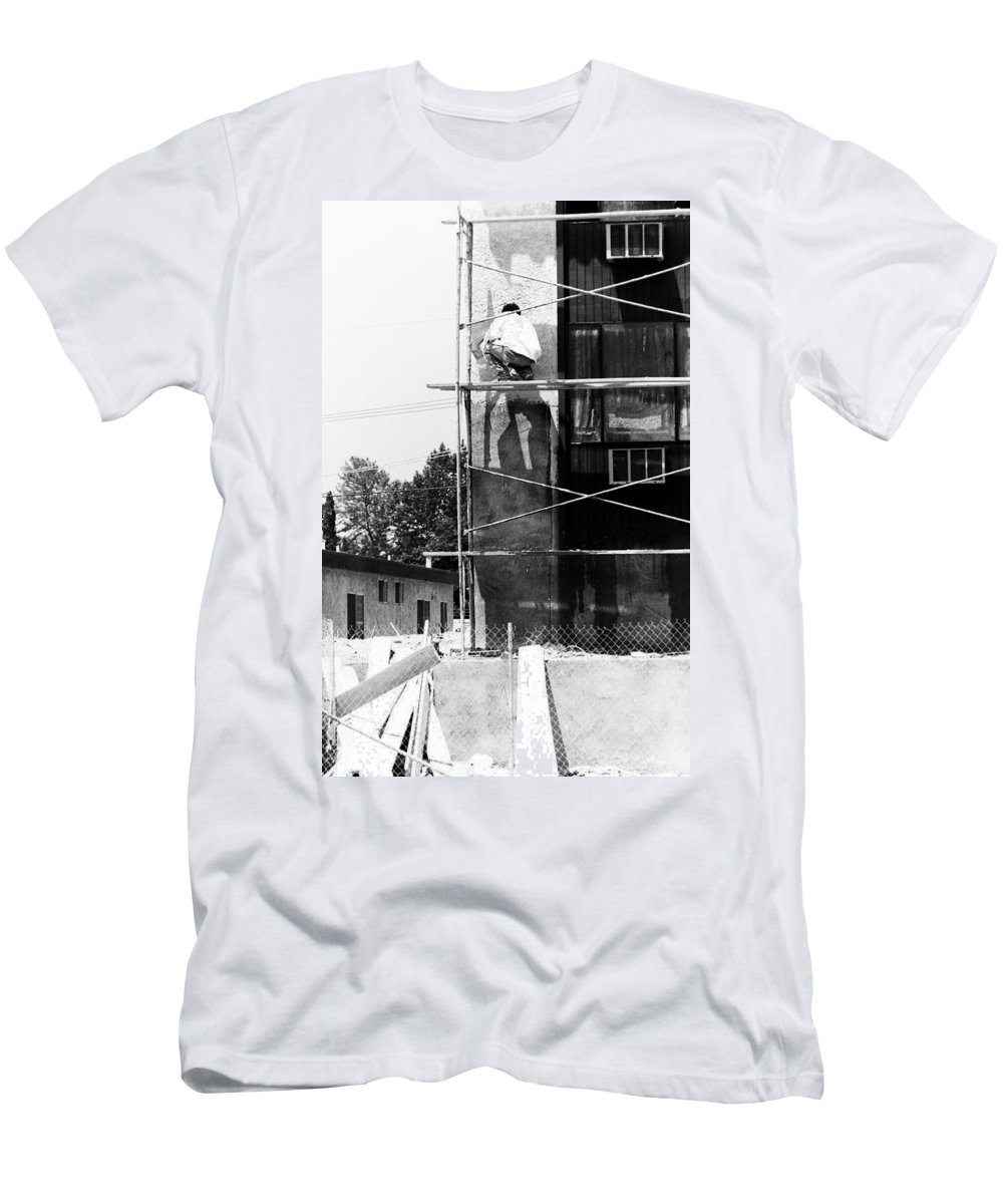 Painters Men's T-Shirt (Athletic Fit) featuring the photograph Men At Work by Karl Rose