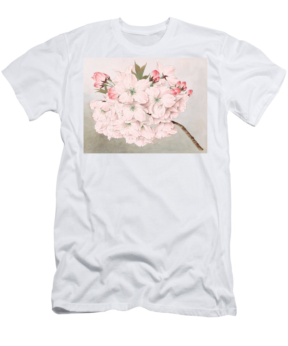 Japan Men's T-Shirt (Athletic Fit) featuring the painting Mikuruma-gaeshi - Vintage Japanese Watercolor by Just Eclectic
