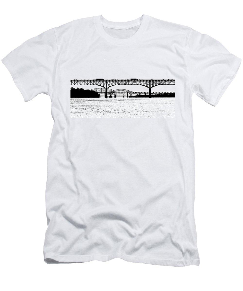 Millard Tydings Memorial Bridge Men's T-Shirt (Athletic Fit) featuring the photograph Millard Tydings Memorial Bridge by William Jobes
