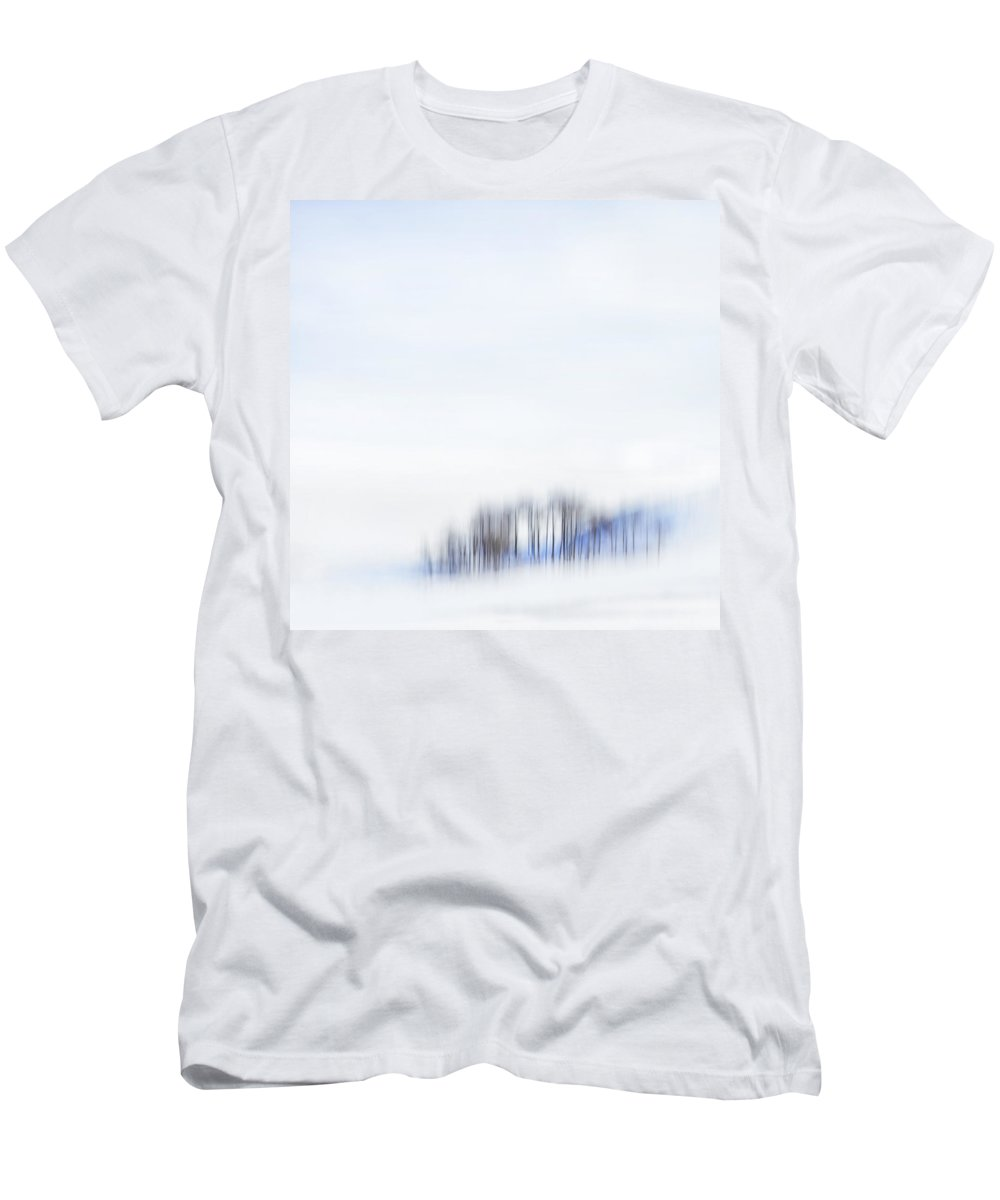 Minimalism Men's T-Shirt (Athletic Fit) featuring the photograph Minimal Trees by Theresa Tahara