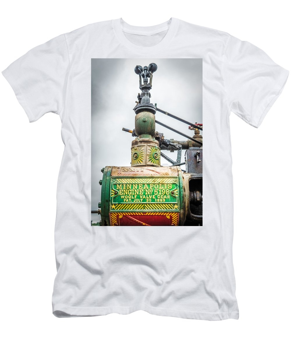 Governor Men's T-Shirt (Athletic Fit) featuring the photograph Minneapolis Steam Engine by Paul Freidlund