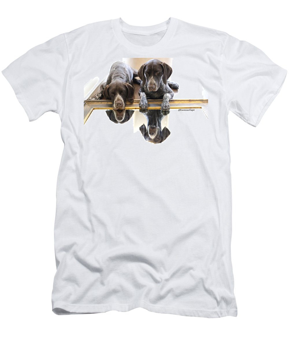 Gsp Men's T-Shirt (Athletic Fit) featuring the photograph Mirror Mirro by Kimberly Petts