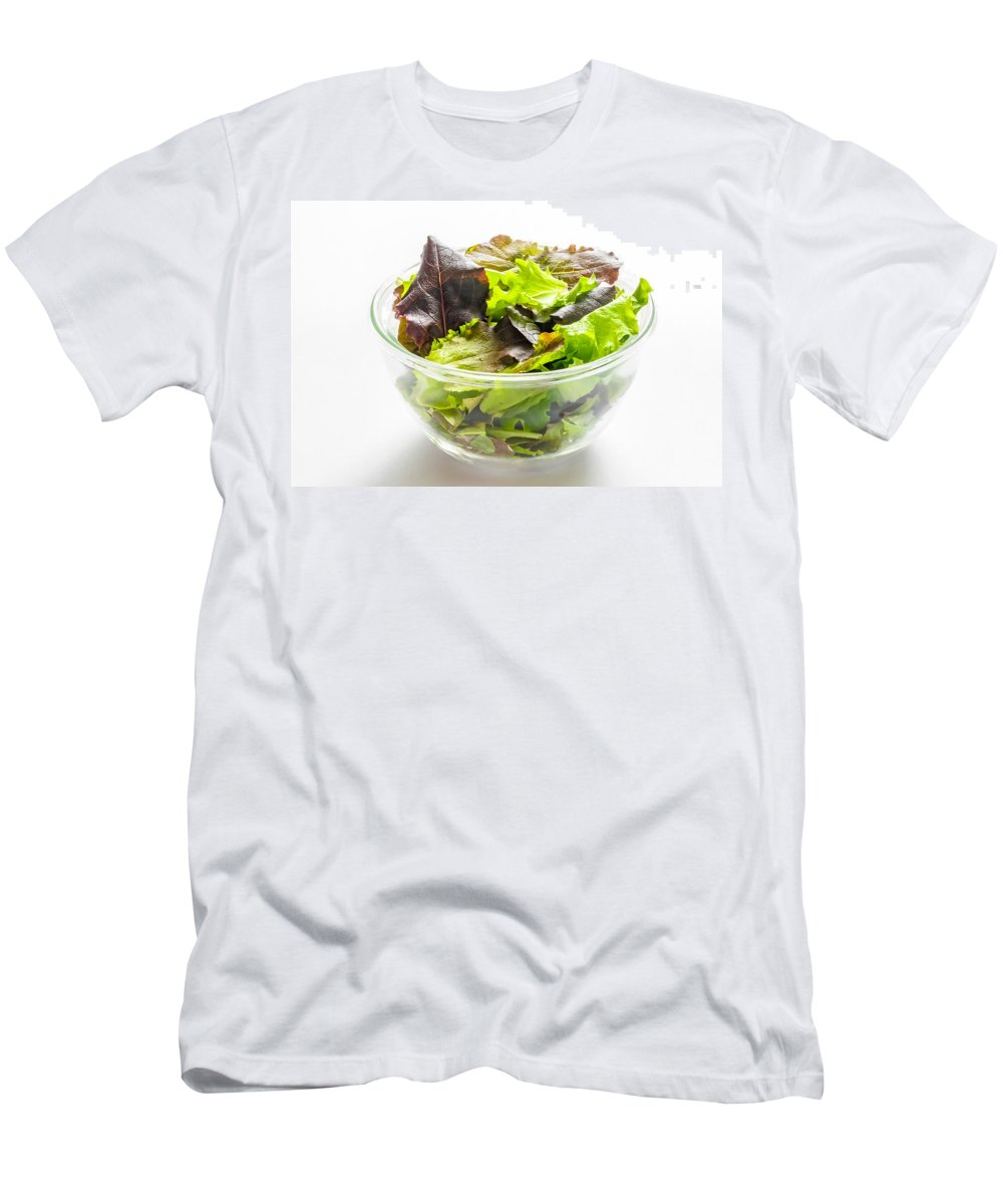 Cup Men's T-Shirt (Athletic Fit) featuring the photograph Mixed Salad In A Cup by Alain De Maximy