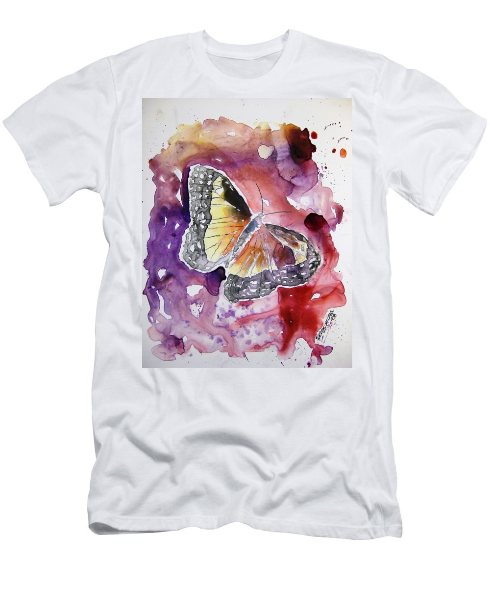 Monarch Men's T-Shirt (Athletic Fit) featuring the painting Monarch Butterfly by Derek Mccrea