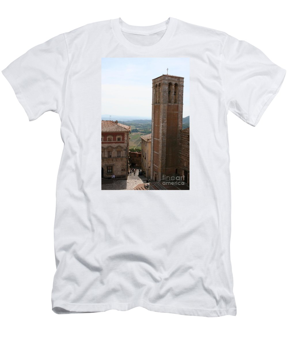 Way Men's T-Shirt (Athletic Fit) featuring the photograph Montepulciano by Christiane Schulze Art And Photography