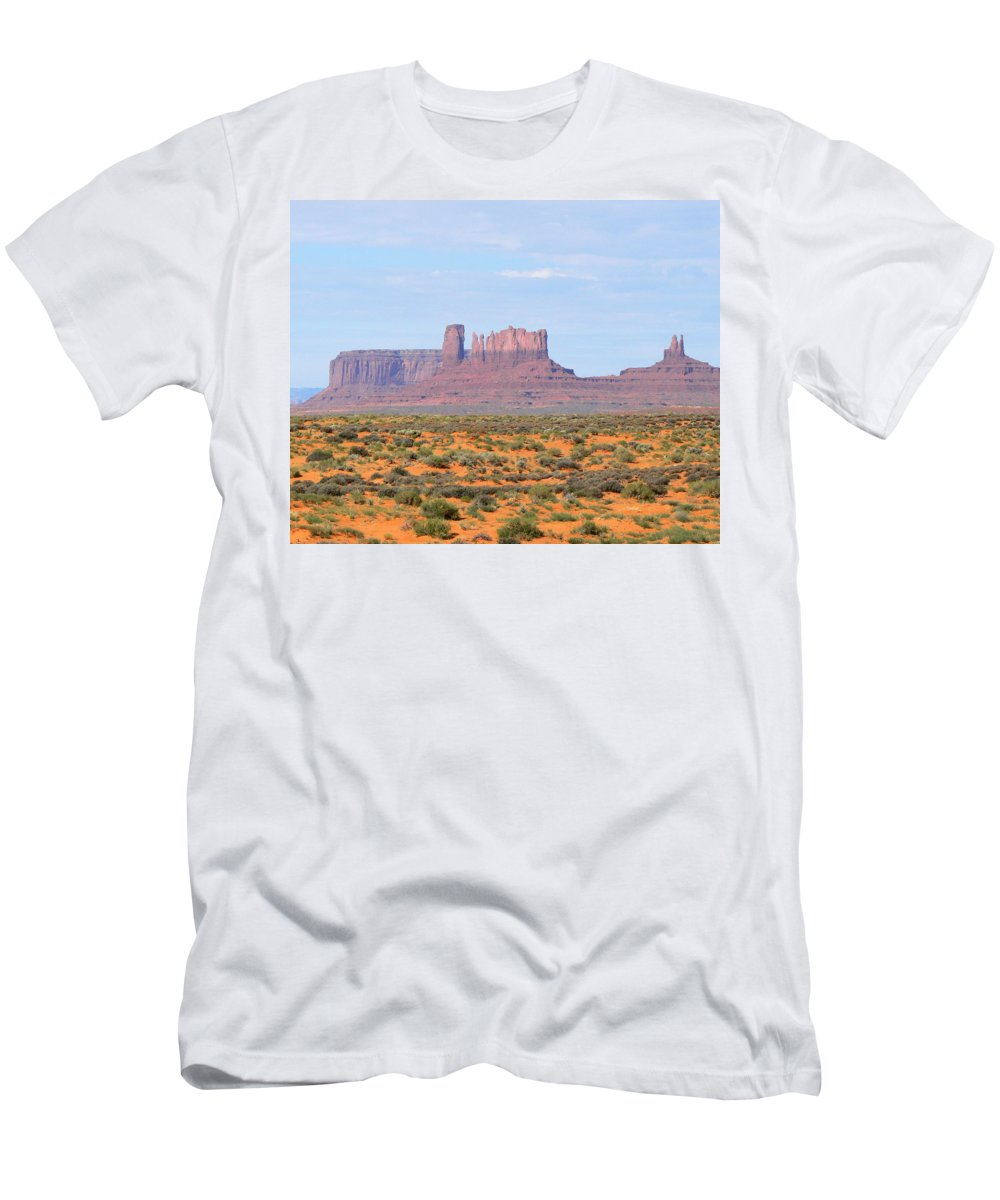 Monument Valley Men's T-Shirt (Athletic Fit) featuring the photograph Monument Valley Area by Laurel Powell