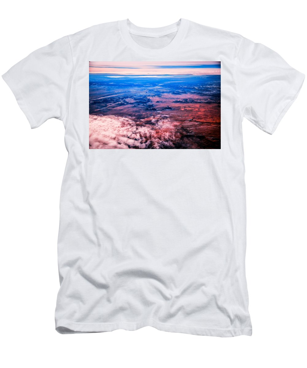 Sand Men's T-Shirt (Athletic Fit) featuring the photograph Monument Valley To Be Seen Only If You Were A Bird by Eti Reid