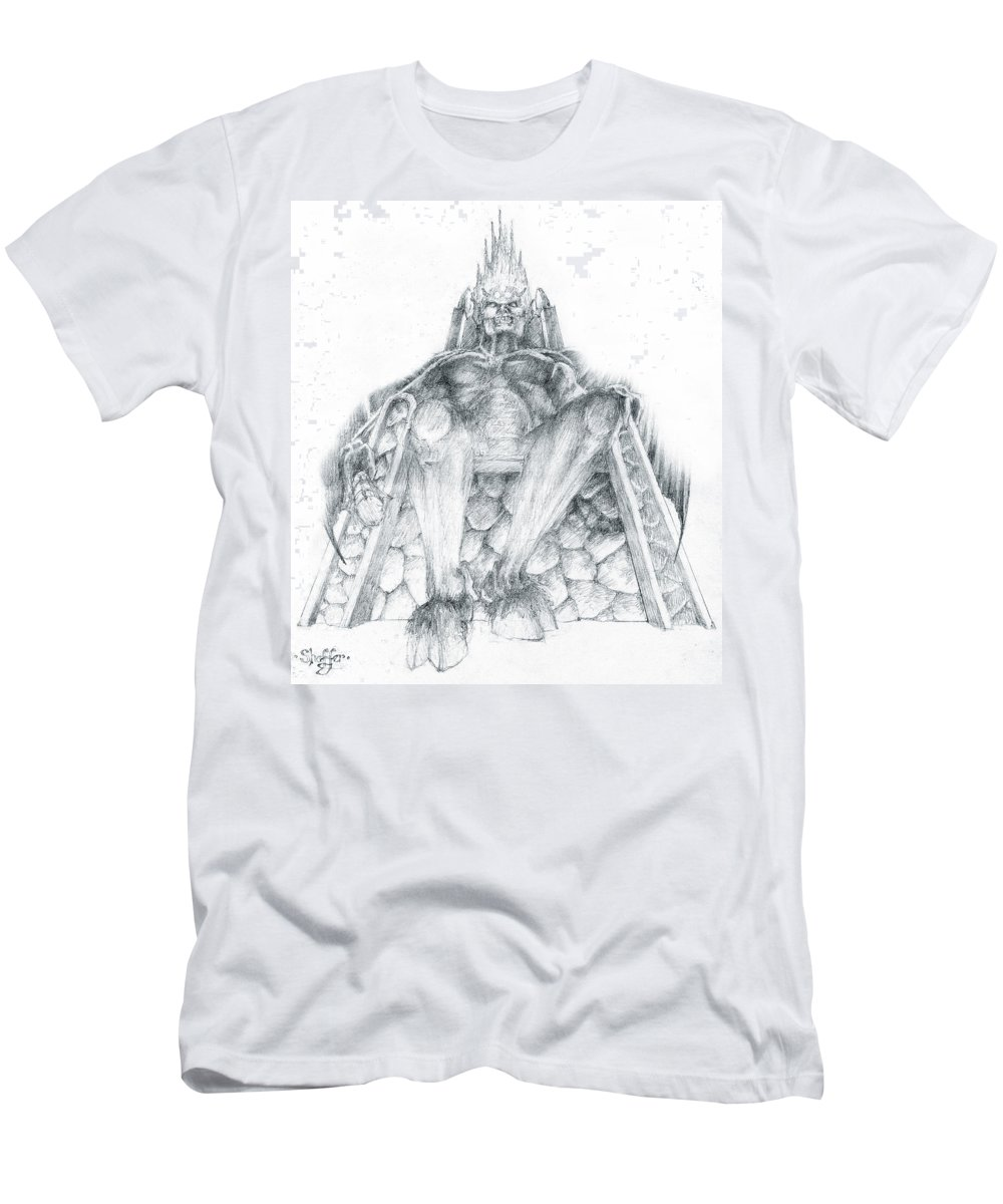 Morgoth Men's T-Shirt (Athletic Fit) featuring the drawing Morgoth Bauglir by Curtiss Shaffer