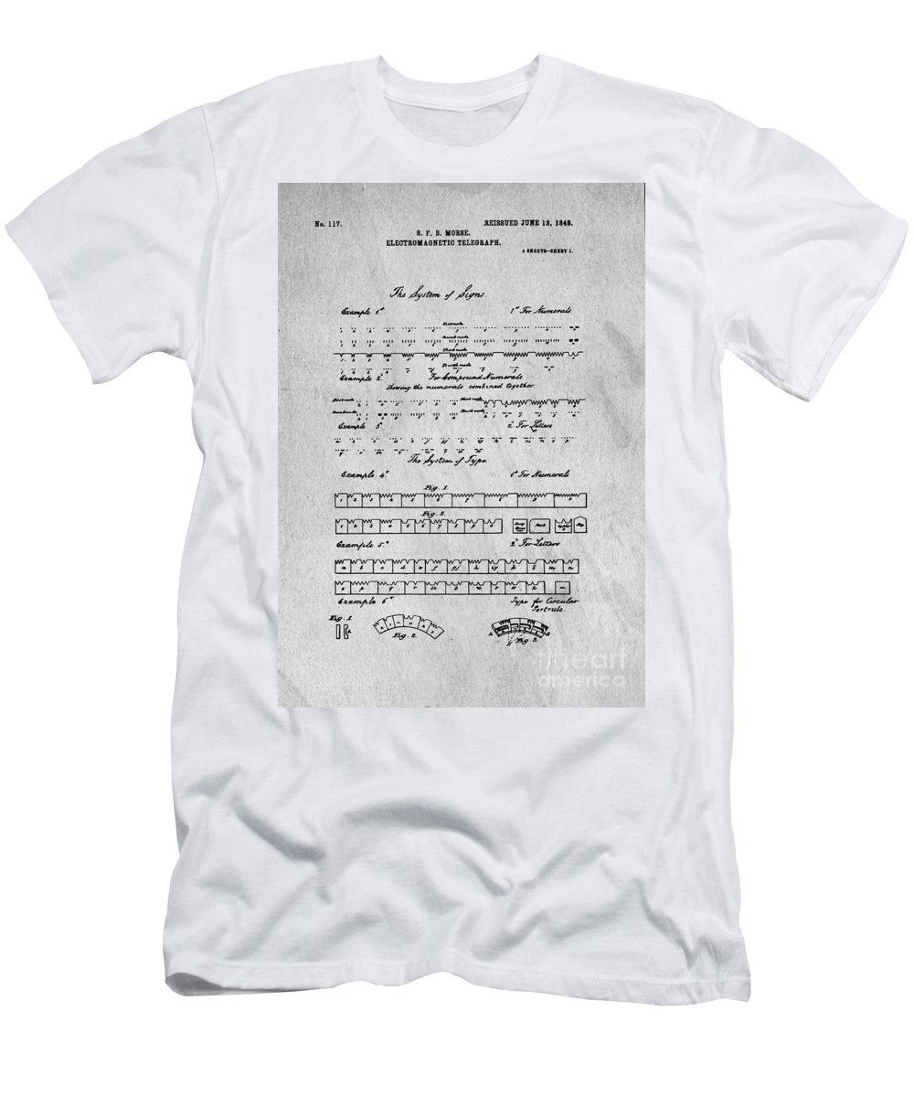 Morse Code Original Patent Men's T-Shirt (Athletic Fit)