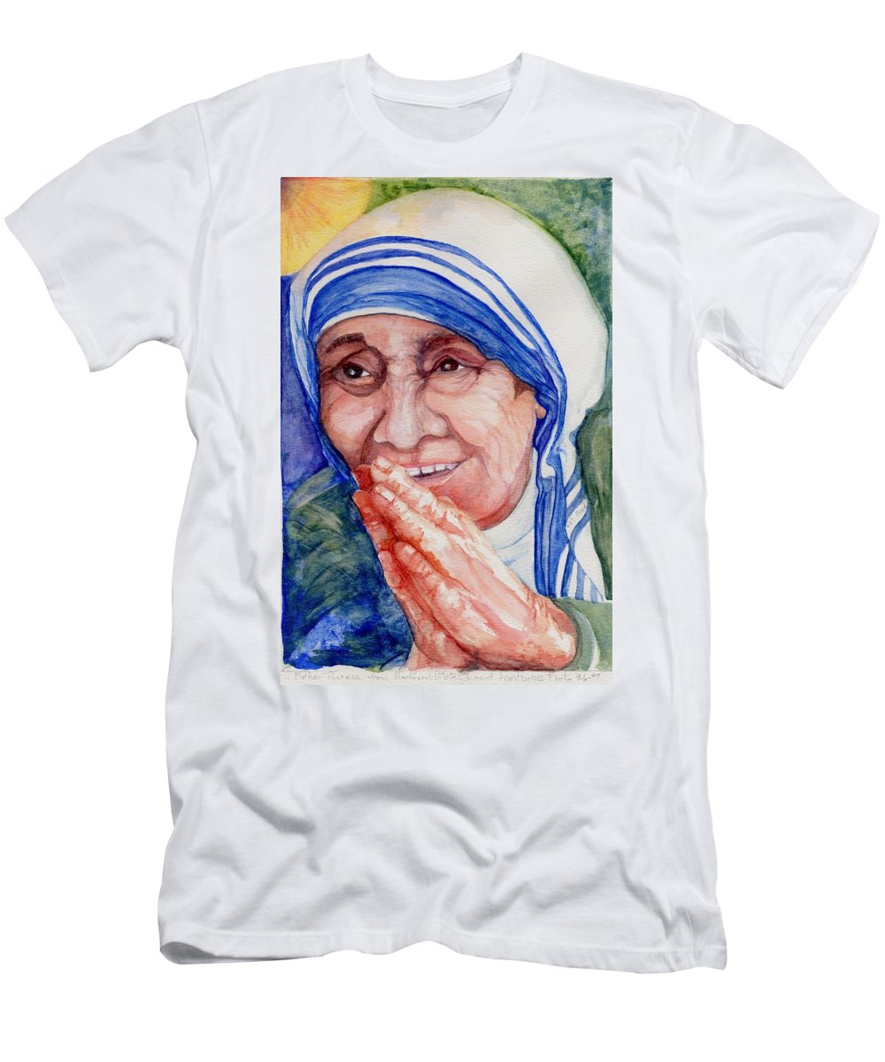 Elle Fagan T-Shirt featuring the painting Mother Teresa by Elle Smith Fagan