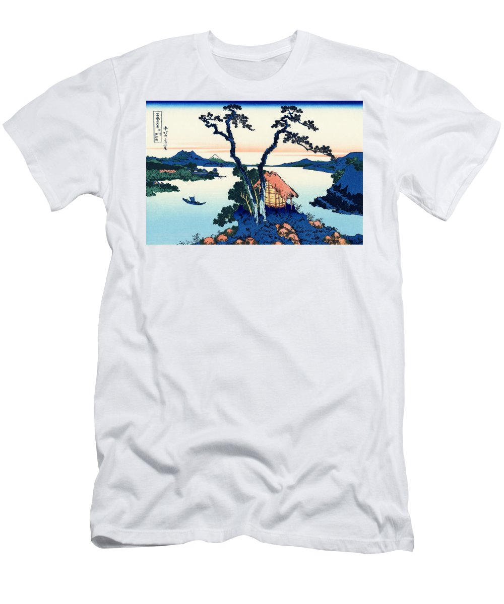 Painting Men's T-Shirt (Athletic Fit) featuring the painting Mount Fuji Tranquility by Mountain Dreams