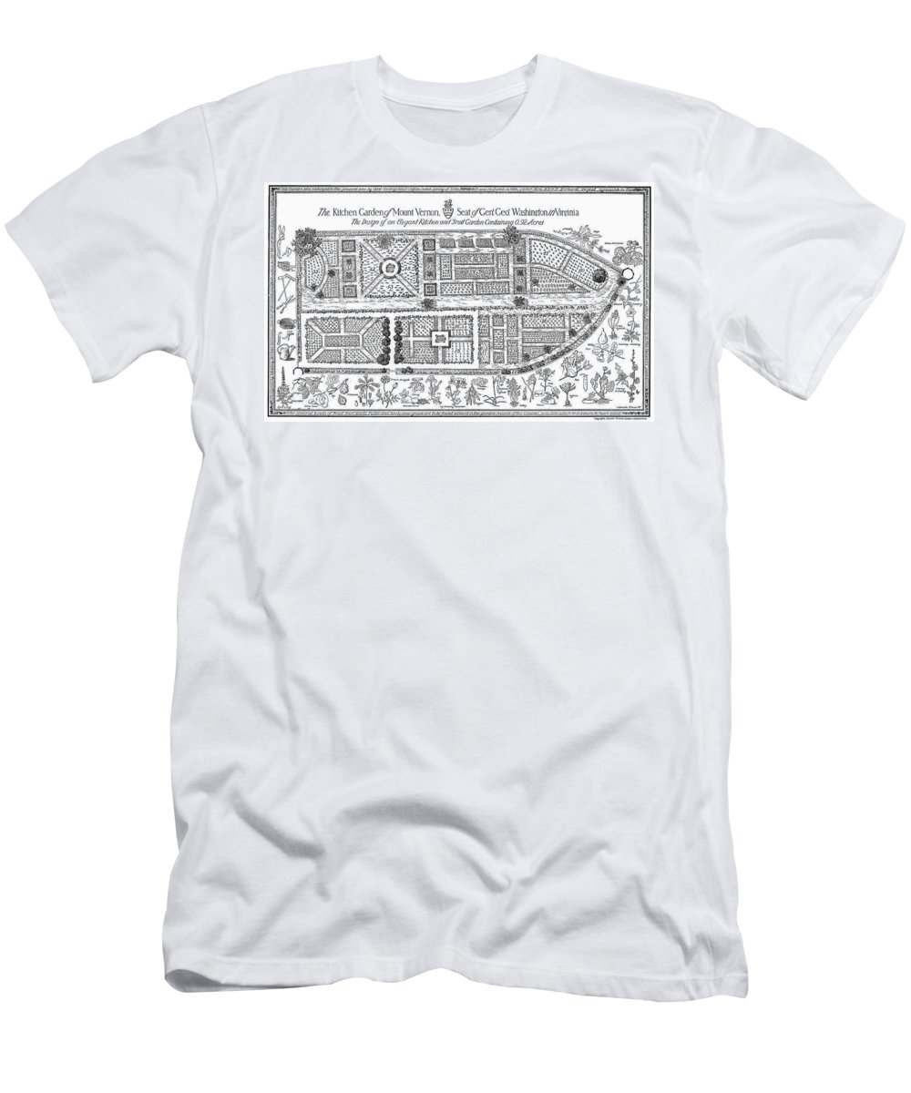 18th Century Men's T-Shirt (Athletic Fit) featuring the photograph Mount Vernon: Garden by Granger