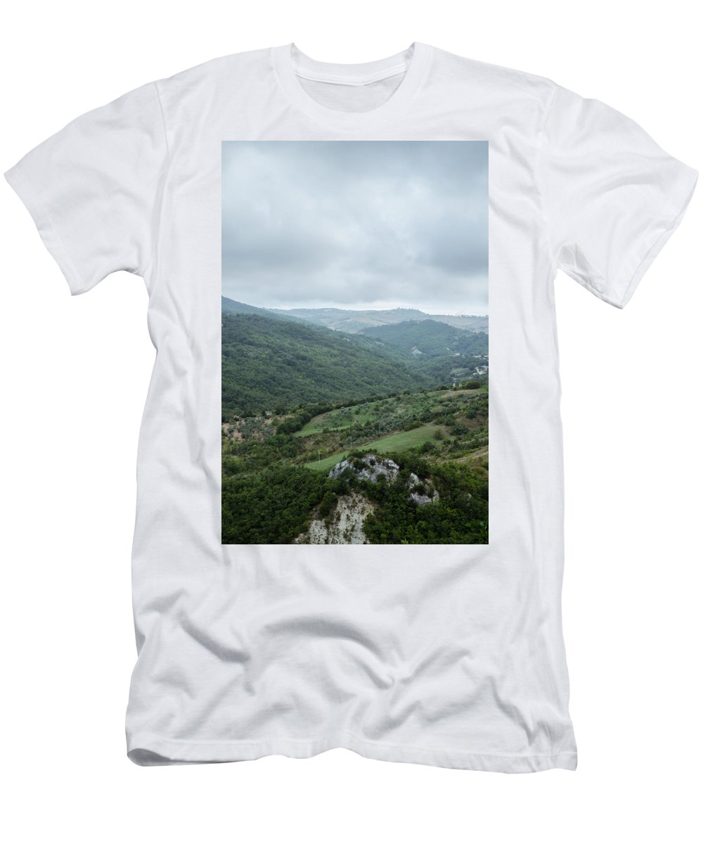 Landscape Men's T-Shirt (Athletic Fit) featuring the photograph Mountain Landscape Of Italy by Andrea Mazzocchetti