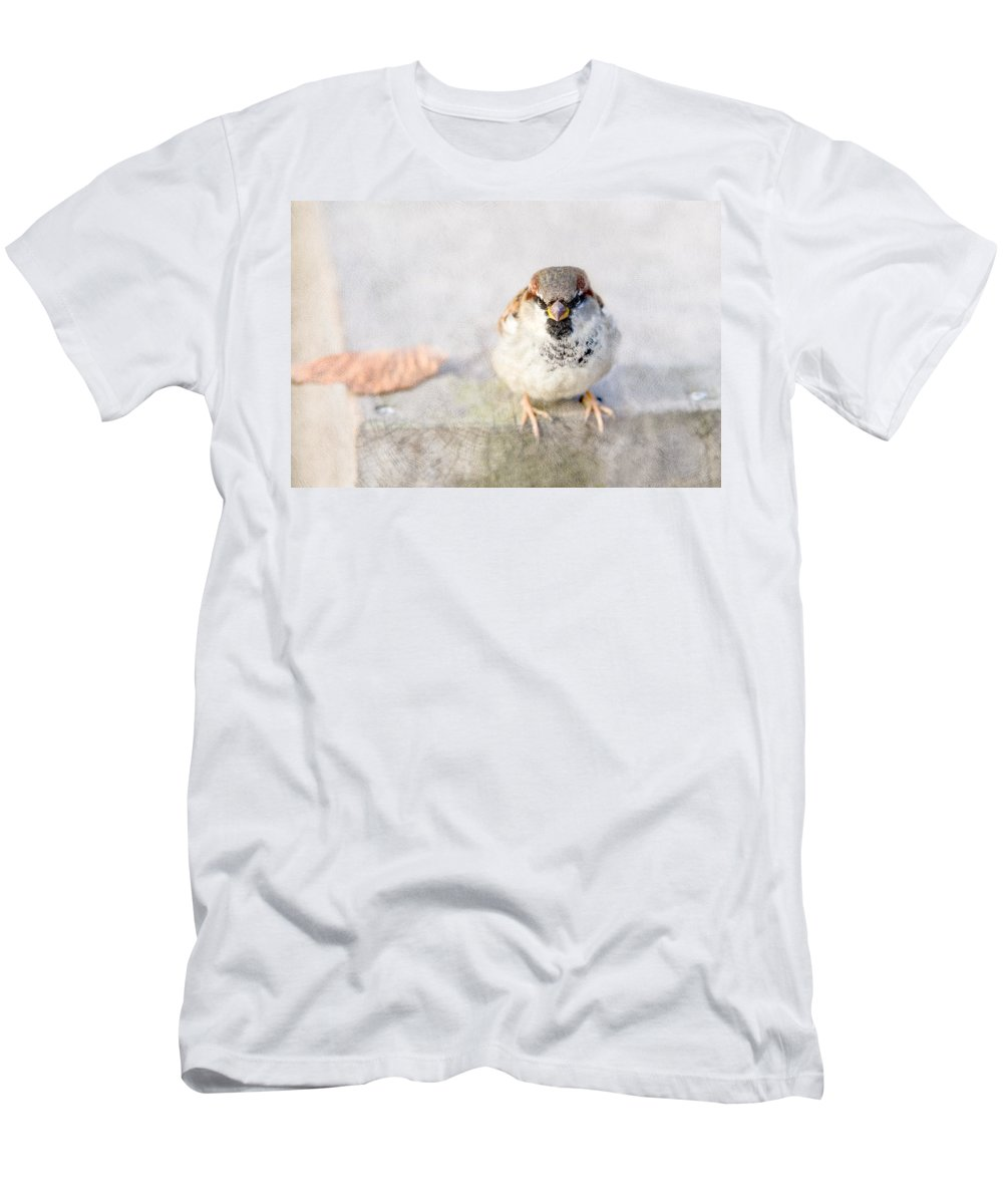 Sparrow Men's T-Shirt (Athletic Fit) featuring the photograph Mr Eagle Jr by Alexander Senin
