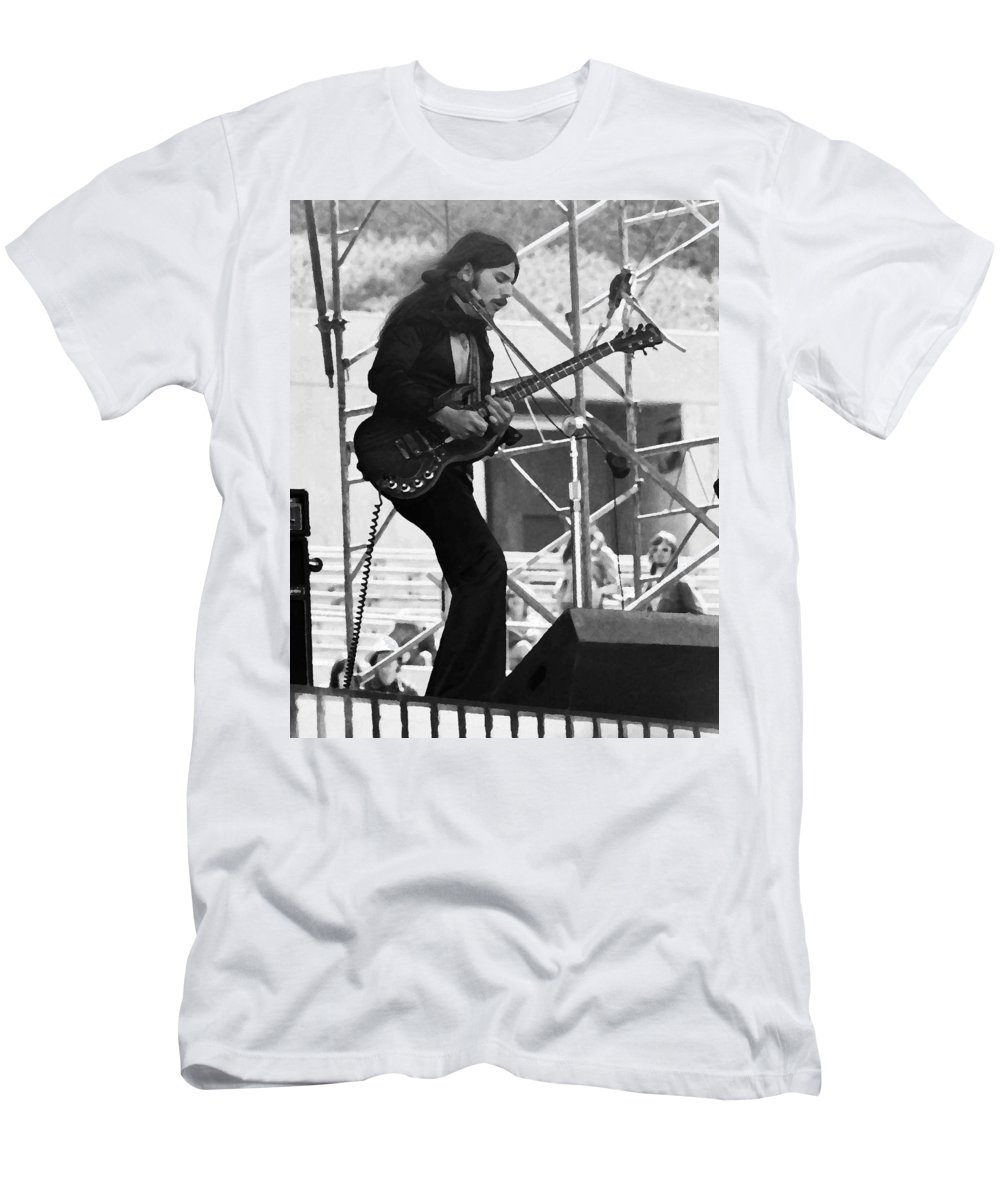 Mahogany Rush Men's T-Shirt (Athletic Fit) featuring the photograph Mrdog #63 Enhanced Bw by Ben Upham