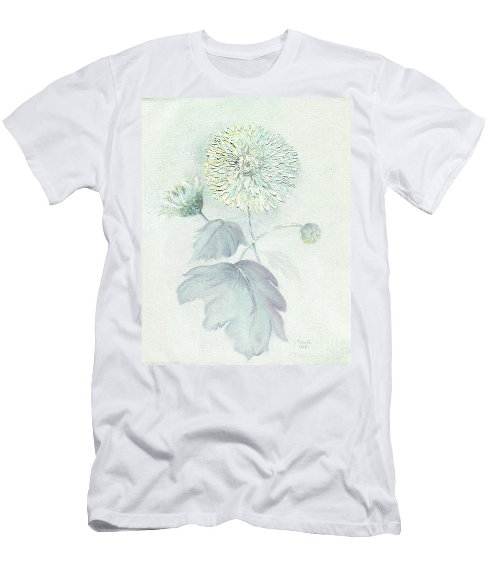 Still Life Men's T-Shirt (Athletic Fit) featuring the painting Dianne's Mums by Marlene Book