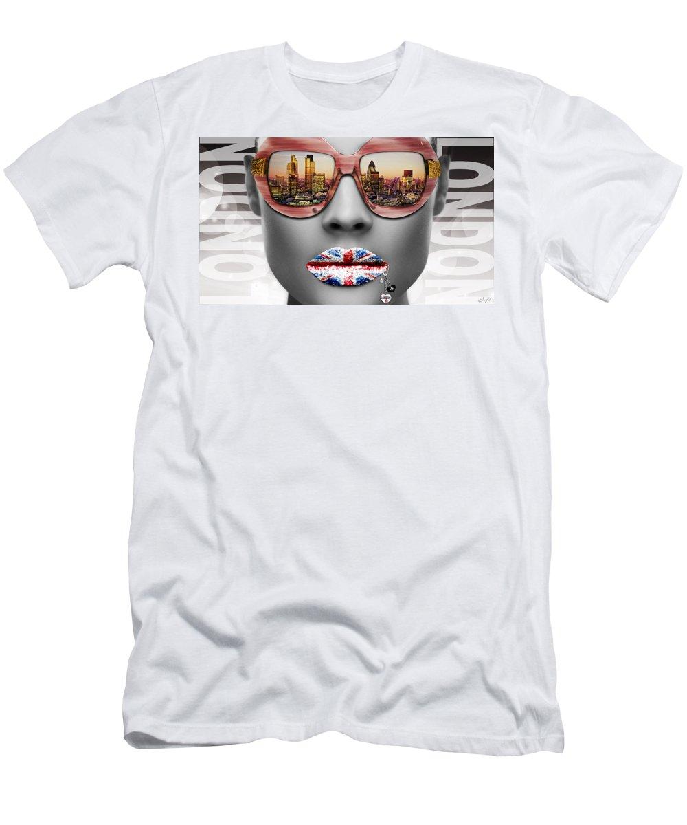 Woman Men's T-Shirt (Athletic Fit) featuring the digital art Musa London by Jan Raphael