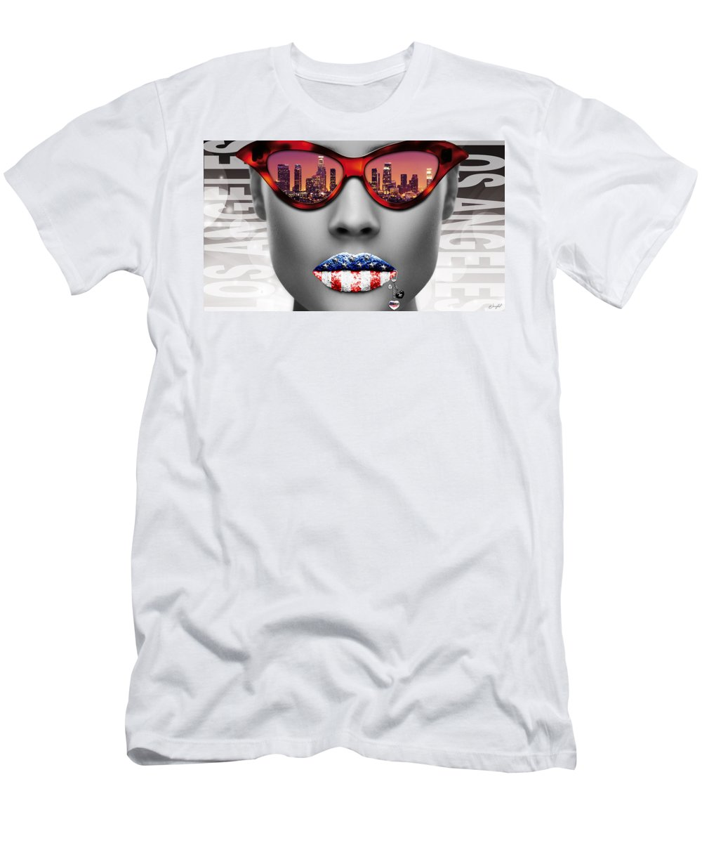 Woman Men's T-Shirt (Athletic Fit) featuring the digital art Musa Los Angeles by Jan Raphael