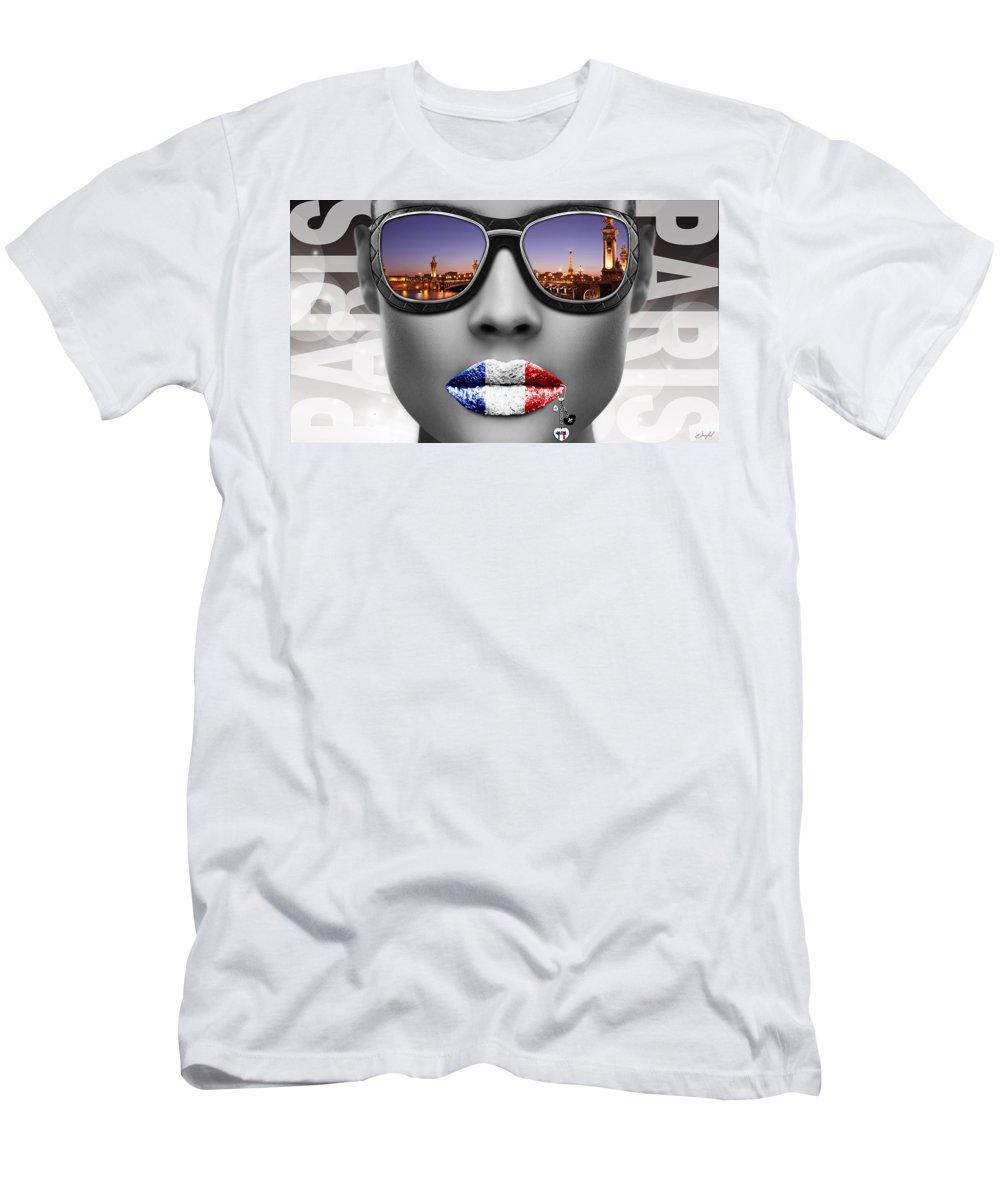 Woman Men's T-Shirt (Athletic Fit) featuring the digital art Musa Paris by Jan Raphael