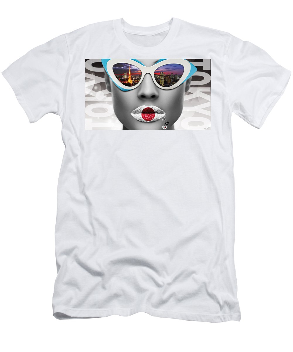 Woman Men's T-Shirt (Athletic Fit) featuring the digital art Musa Tokyo by Jan Raphael