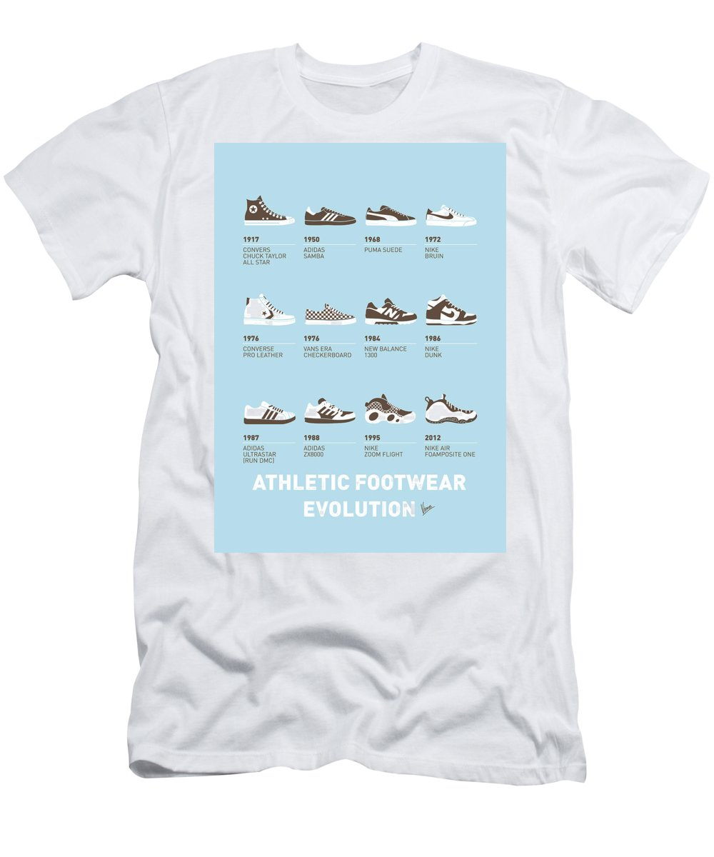 Minimal Men's T-Shirt (Athletic Fit) featuring the digital art My Evolution Sneaker Minimal Poster by Chungkong Art