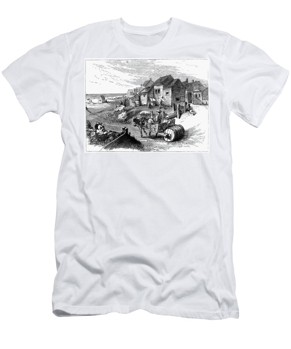 19th Century Men's T-Shirt (Athletic Fit) featuring the painting Nantucket, 19th Century by Granger