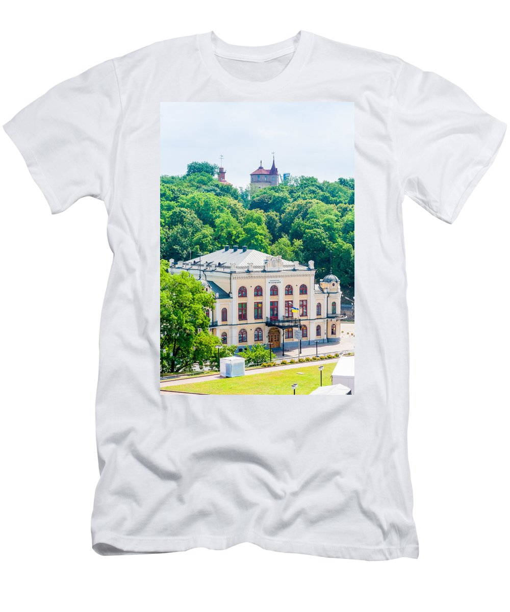 Europe Men's T-Shirt (Athletic Fit) featuring the photograph National Philharmonic Of Ukraine by Alain De Maximy