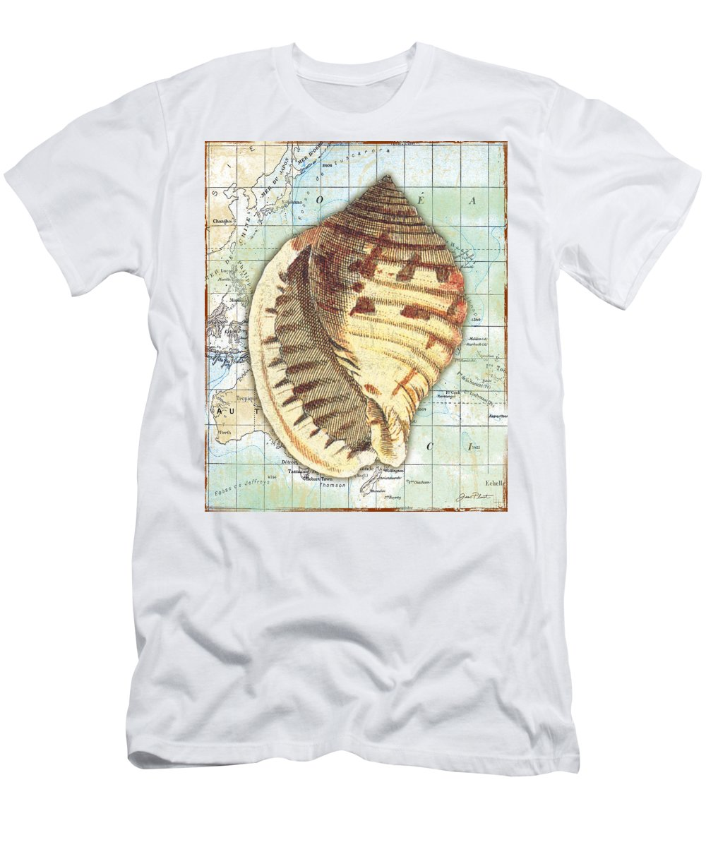 Vintage Men's T-Shirt (Athletic Fit) featuring the digital art Nautical Journey-c by Jean Plout