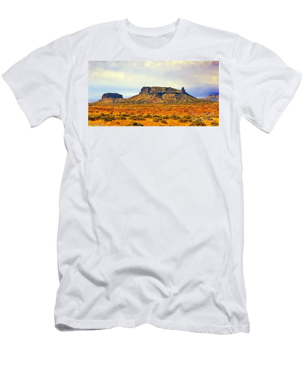 Navajo Men's T-Shirt (Athletic Fit) featuring the photograph Navajo Nation Monument Valley by Bob and Nadine Johnston
